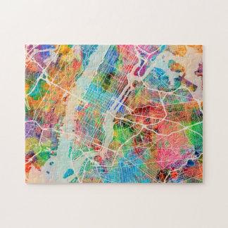 New York City Street Map Jigsaw Puzzle