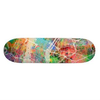 New York City Street Map Skate Board Deck