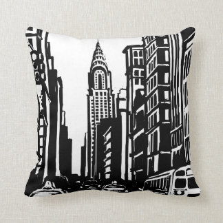 New York City Street Throw Pillow