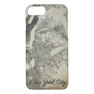 New York City Streets and Buildings Vintage Design iPhone 8/7 Case