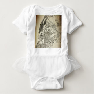 New York City Streets and Buildings Vintage Map Baby Bodysuit