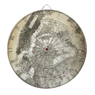 New York City Streets and Buildings Vintage Map Dartboard