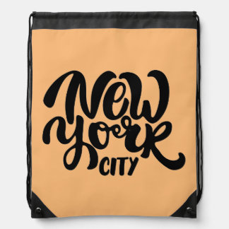 New York City Style Drawstring Bag