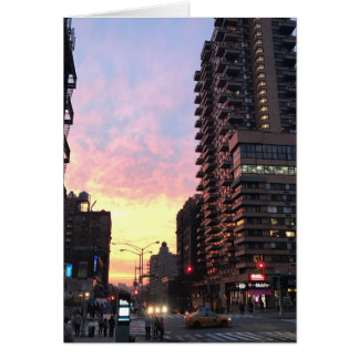 New York City Sunset Upper West Side 96th St NYC Card