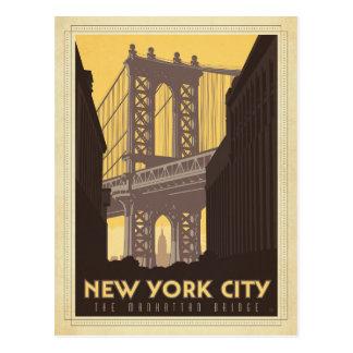 New York City | The Manhattan Bridge Postcard