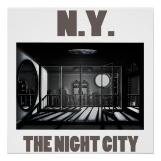 New York City- The Night City Poster