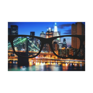 New York City through Sapio glasses Canvas Print