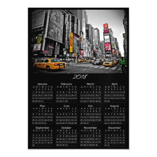 New York City Time Square 2018 Calendar Magnet