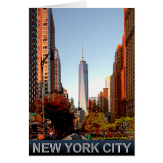 New York City Tower greeting card