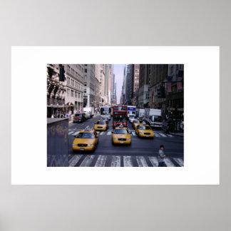 New York City Traffic Poster