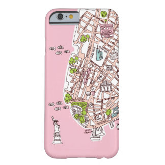 New York City travel map iPhone 6 case Barely There iPhone 6 Case