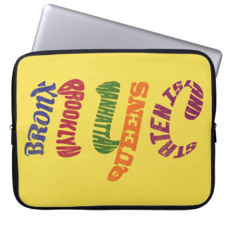New York City Typographic NYC Laptop Cover
