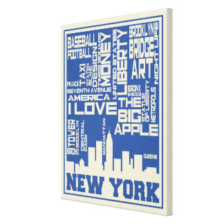 New York City Typography Poster Canvas Print