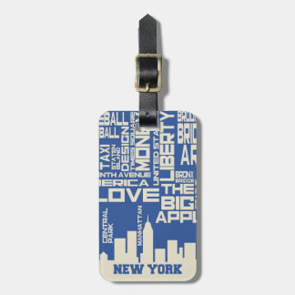 New York City Typography Poster Luggage Tag