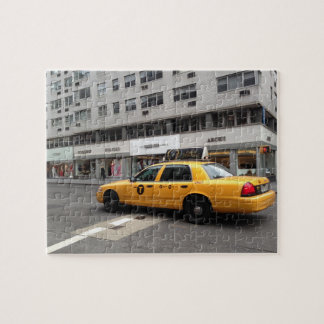 New York City Upper East Side Yellow Taxi Cab NYC Jigsaw Puzzle