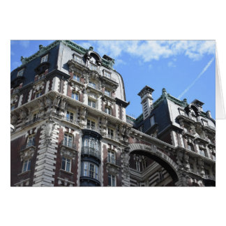 New York City Upper West Side Apartment Building Card