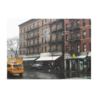 New York City Upper West Side Snow Photography Canvas Print