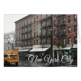 New York City Upper West Side Snow Photography Card