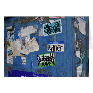 New York City Urban Graffiti Street Art Photograph Card