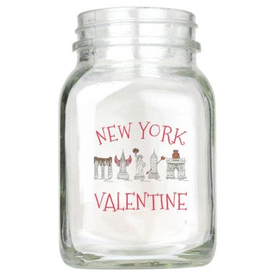 New York City Valentine NYC Skyscraper Centerpiece Mason Jar