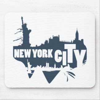 New York City - Vector Mouse Pad