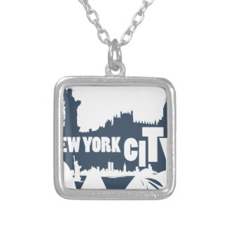 New York City - Vector Silver Plated Necklace
