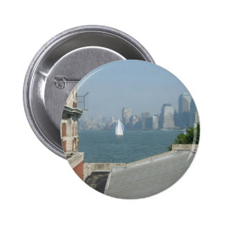 New York City View of the Bay Pinback Button