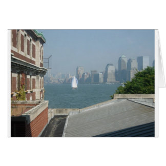 New York City View of the Bay Greeting Cards