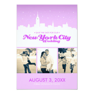New York City Wedding Save-the-date 13 Cm X 18 Cm Invitation Card