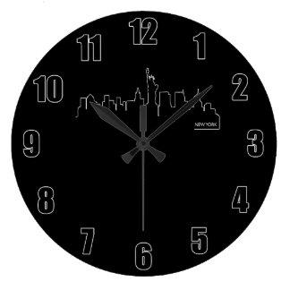 New York cityscape Large Clock