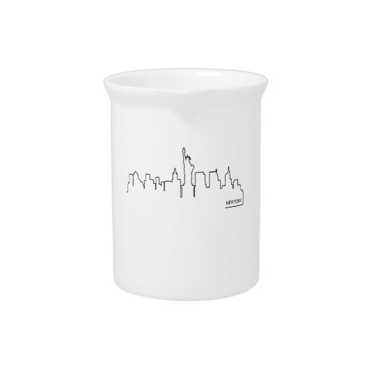 New York cityscape Pitcher