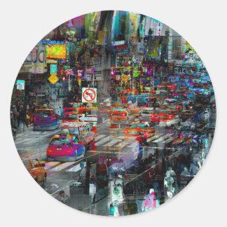 New York Classic Round Sticker
