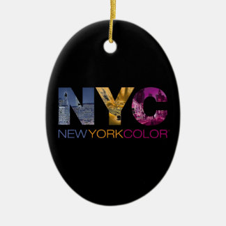 New York Color Collection Ceramic Oval Decoration