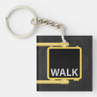 New York Crosswalk Sign Walk Key Ring