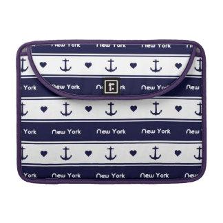 New York cruises pattern Sleeve For MacBooks