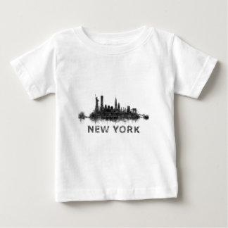 New York Dark-White Skyline v07 Baby T-Shirt