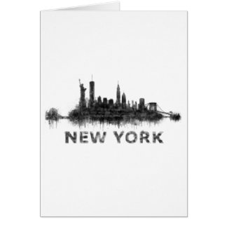 New York Dark-White Skyline v07 Card