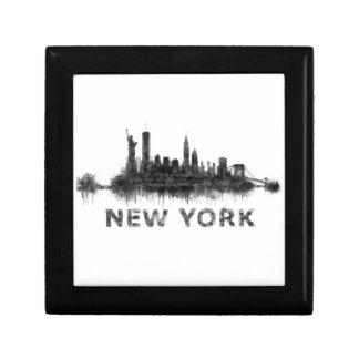 New York Dark-White Skyline v07 Gift Box