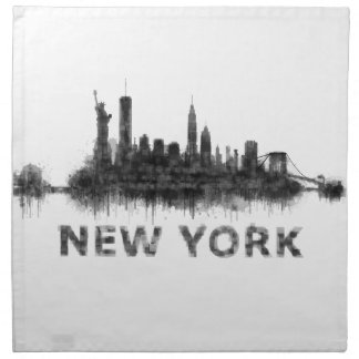 New York Dark-White Skyline v07 Napkin