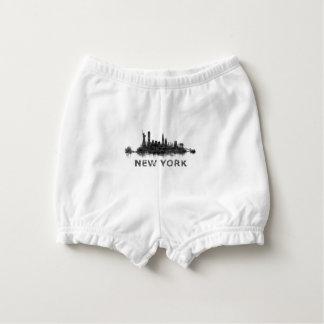 New York Dark-White Skyline v07 Nappy Cover