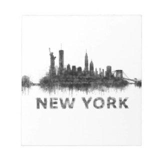 New York Dark-White Skyline v07 Notepad