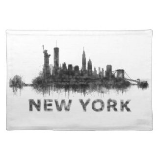 New York Dark-White Skyline v07 Placemat