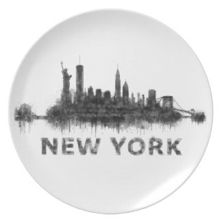 New York Dark-White Skyline v07 Plate