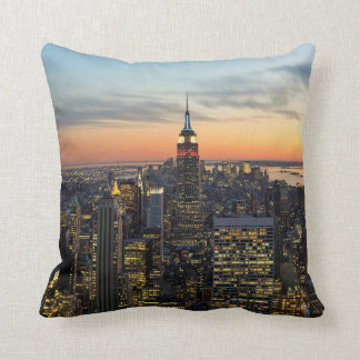 New York dawn skyline Cushion