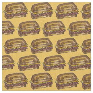 New York Deli Corned Beef Reuben Sandwich Fabric