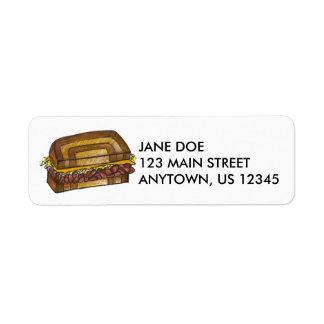 New York Deli Reuben Sandwich Address Labels