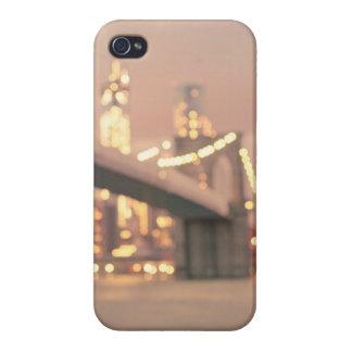 New York - Dreamy Bokeh Brooklyn Bridge iPhone 4/4S Cases