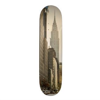 New York, E 42 St and Chrysler Building 18.1 Cm Old School Skateboard Deck