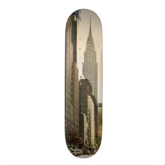 New York, E 42 St and Chrysler Building 18.1 Cm Old School Skateboard Deck