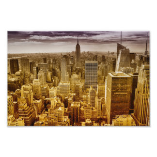 New york , empire state building , manhattan photo print